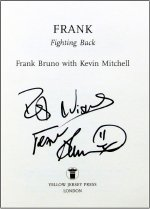 Frank Bruno's signature in his autobiography