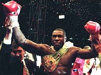 Frank Bruno after becoming WBC World Heavyweight Champion in 1995