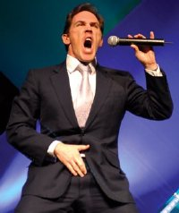 Rob Brydon impersonating Tom Jones