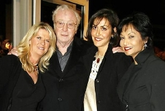 (left to right) Nikki, Michael Caine, Natasha and Shakira