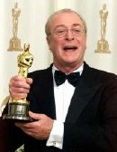 Michael Caine with his Oscar for 'The Cider House Rules' (1999)