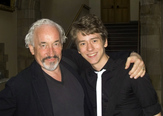 Simon Callow with Ciaran Brown