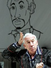 Simon Callow as Garry Essendine in 'Present Laughter'