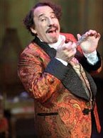 Simon Callow as Count Fosco in the stage version of 'The Woman in White'