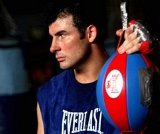 Joe Calzaghe at his father's Gym in Abercarn