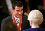 Joe Calzaghe receives his CBE from the Queen in 2008