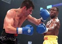 Joe Calzaghe fights Chris Eubank in 1997
