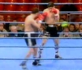 Joe Calzaghe's first professional fight against Paul Hanlon in 1993