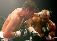 Joe Calzaghe fights Byron Mitchell in 2003