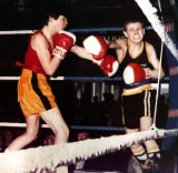 Joe Calzaghe beating Ian Raby at the ABA schoolboys finals in Derby, 1984