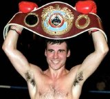 Joe Calzaghe with his WBO Super Middleweight Champion's belt