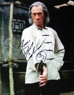 Photo signed by David Carradine at the NEC in November 2006