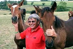 Willie Carson with some of his horses at his Minster House Stud