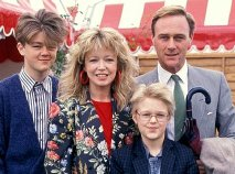 Christopher Cazenove with his ex-wife Angharad Rees and their two sons Linford & Rhys