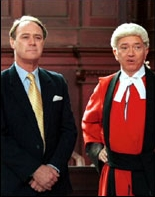 Christopher Cazenove as Row Colemore and Martin Shaw as John Deed in 'Judge John Deed'