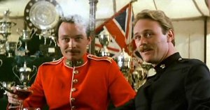 James Faulkner & Christopher Cazenove in 'Zulu Dawn'