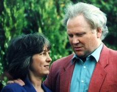 Ciaran's mum with Colin Baker 1996