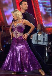 Joe Calzaghe with dance partner Kristina Rihanoff in 'Strictly Come Dancing' in 2009