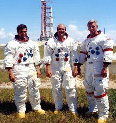 The crew of Apollo 17 - Harrison 'Jack' Schmitt, Ronald Evans & Gene Cernan