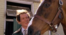 John Hurt and Aldaniti (screenshot from 'Champions')