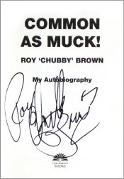 Autographed title page of 'Common As Muck'