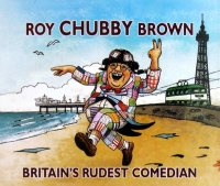Advertising cartoon for Roy 'Chubby' Brown's appearances in Blackpool