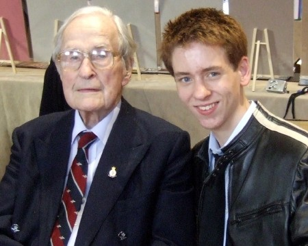 Ciaran Brown with Squadron Leader 'Jimmy' James