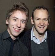 Alexander Armstrong with Ciaran Brown