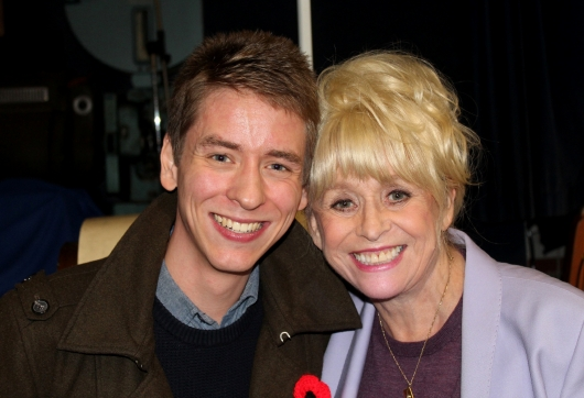 Barbara Windsor with Ciaran Brown