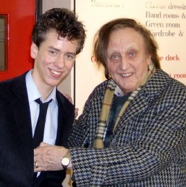 Ciaran Brown with Ken Dodd after 'The Christmas Happiness Show' in Nottingham 2007