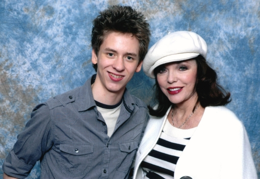 Ciaran Brown with Joan Collins