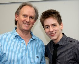 Peter Davison with Ciaran Brown in 2010