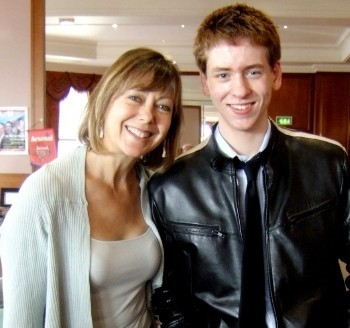 Ciaran Brown with Jenny Agutter
