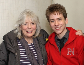 Alison Steadman with Ciaran Brown