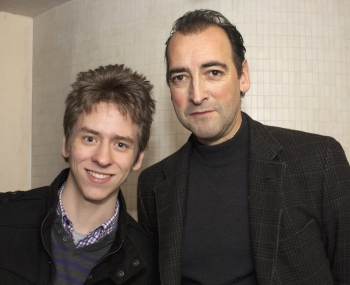 Alistair McGowan with Ciaran Brown