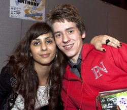 Ciaran Brown with Anjli Mohindra who plays Rani Chandra in 'The Sarah Jane Adventures'
