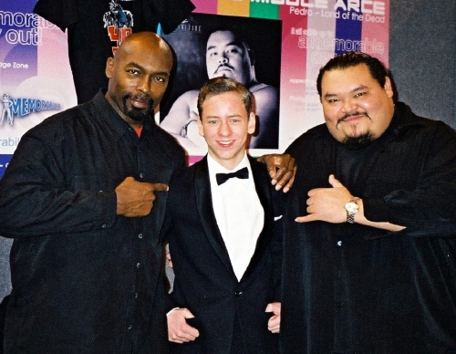 Ciaran Brown with Eugene Clark and Pedro Miguel Arce
