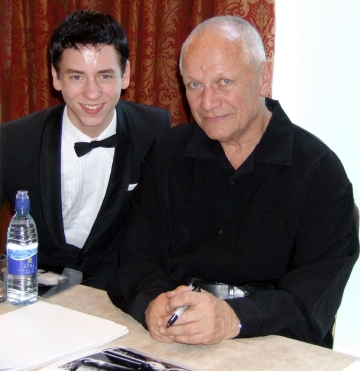 Steven Berkoff with Ciaran Brown