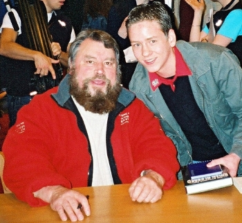 Ciaran Brown with Brian Blessed