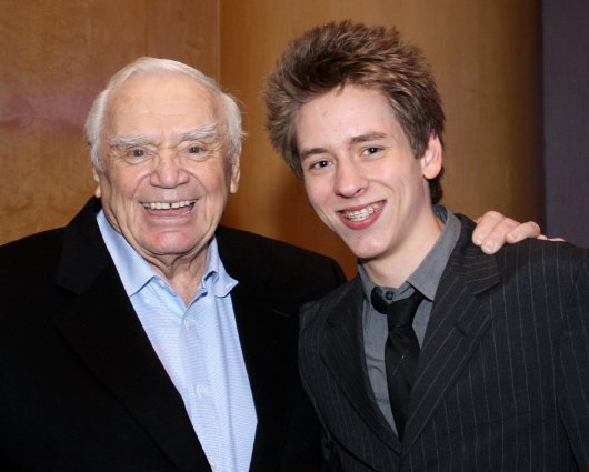 Ernest Borgnine with Ciaran Brown