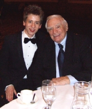 Ciaran Brown with Ernest Borgnine at the Autographica Gala Dinner