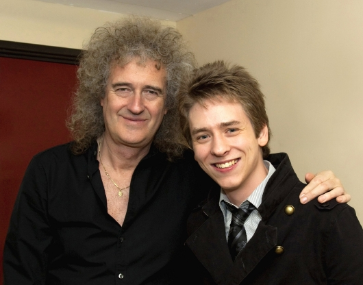 Brian May with Ciaran Brown