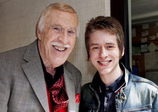 Bruce Forsyth with Ciaran Brown