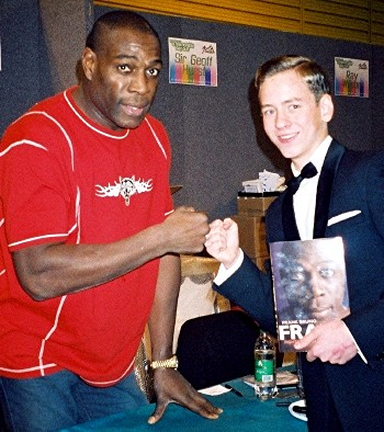 Ciaran Brown with Frank Bruno