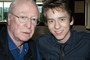 Michael Caine with Ciaran Brown