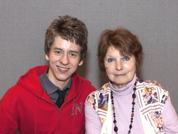 Catherine Schell with Ciaran Brown