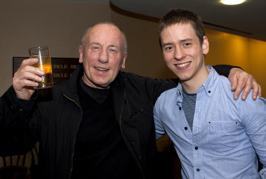 Christopher Timothy with Ciaran Brown