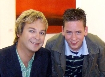 Ciaran Brown with Julian Clary