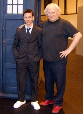 Colin Baker with Ciaran Brown at the Birmingham NEC in 2007
