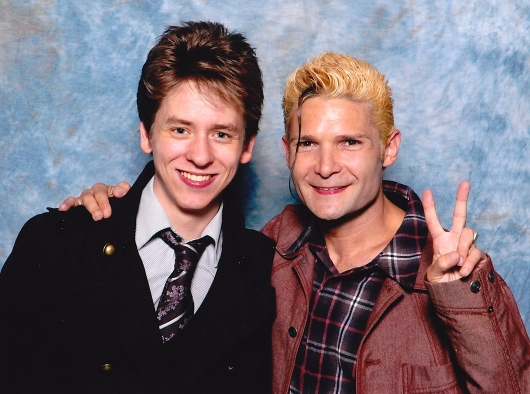 Corey Feldman with Ciaran Brown